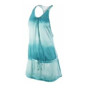 Nike Dri Fit Womens Tie Dye Tunic Gym Blue Dress